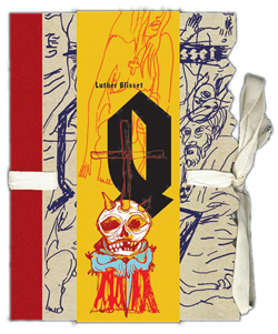 Obalka Q (kniha provedena v umělecké vazbě)
