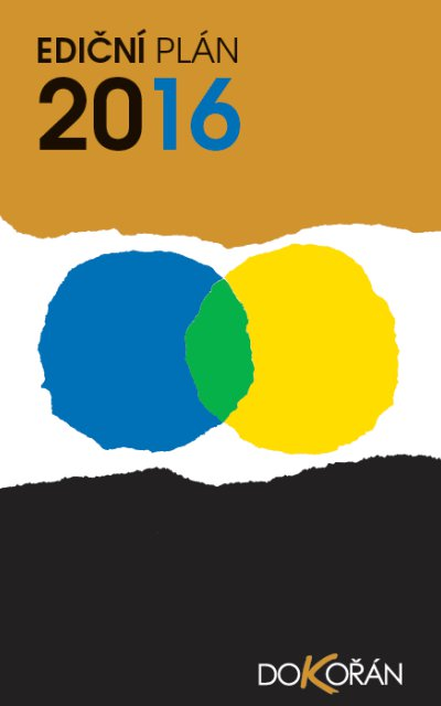 nakladatelství Dokořán - Ediční plán 2016